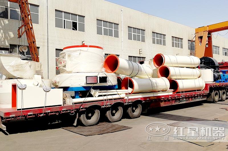 红星机器小型石粉磨粉机发往上海